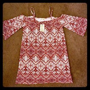 NWT Stylish Cold Shoulder Dress